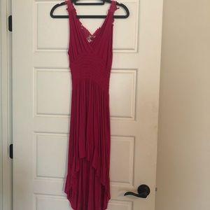 Pink asymetric Dress